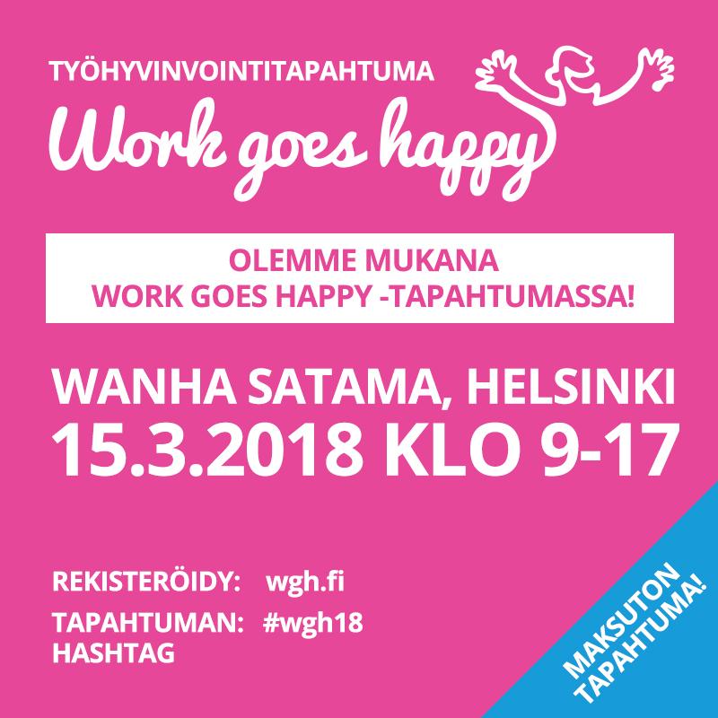 Ilmoittaudu Work Goes Happy -tapahtumaan nyt